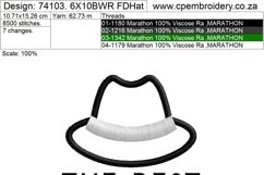 The Best Dad Hat and Mustache Embroidery Design for Machines Product Image 4