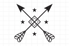 Crossed Arrows SVG, cutting file. Product Image 1