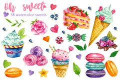 Sweets Confectionery watercolor clipart. Donat day clip art Product Image 3