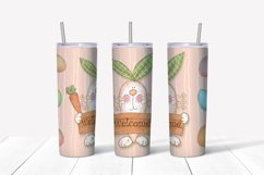 Happy Easter Png. Easter sublimation design. Skinny tumbler Product Image 4