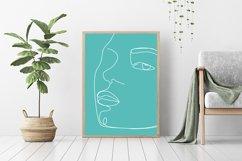 Faces Single Line,Printable Line Art,Printable Wall Art Product Image 1
