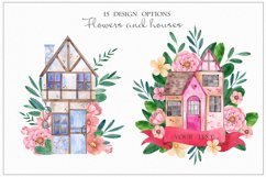 Sweet Home. Watercolor cliart Product Image 4