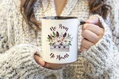 Woman holding a black handle mug, winter jumper Product Image 2