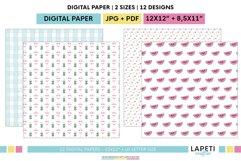 Summer digital scrapbbok papers | Pool decorative wallpaper Product Image 4