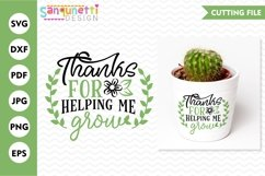 Thanks for helping me grow svg for teachers and moms Product Image 1