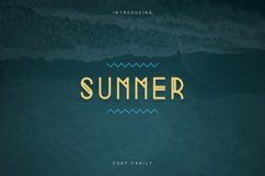 Summer Display Font family Product Image 1