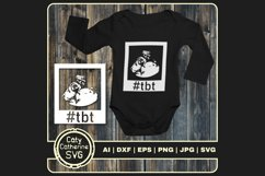 Hashtag Throwback To #tbt Baby Scan SVG Cut File Product Image 1