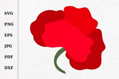 Poppy SVG for Remembrance or Anzac Day Cricut file Product Image 2
