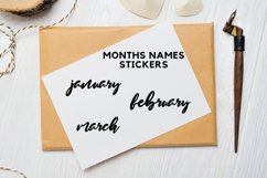 Month Stickers, Bullet Journal Stickers Product Image 1