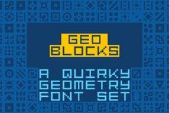 GeoBlocks - a geometric font set of blocks and shapes! Product Image 1