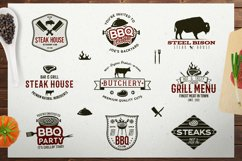 BBQ SVG Logos Bundle Grill Emblems Icons Set, Barbecue DXF Product Image 2