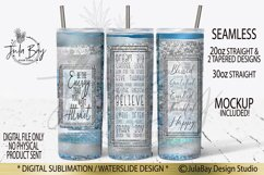 20oz Skinny Tumbler PNG Sublimation Design Law of Attraction Product Image 1