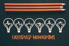Web Font Lightbulb Monogram - A-Z Letters Product Image 1