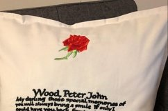 Rose with Stem Machine Embroidery Design Set of 4 Sizes Product Image 6