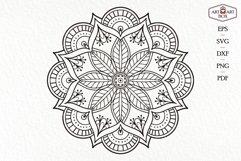 Mandala boho for cutting. Contour, silhouette. Product Image 5