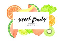 Watercolor sweet fruits Product Image 1