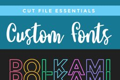 Polkami - a polka dot mirror font with stacked letters OTF Product Image 6