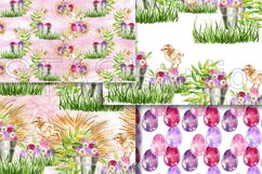 Easter Paper Pack Purple Easter Seamless Pattern Digital Fab Product Image 5