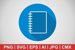 Vector Spiral Notebook Icon Product Image 1