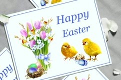 Easter Watercolor Clipart,Easter chick, Product Image 3