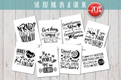 8 Hand Lettered motivation quotes bundle svg Product Image 1