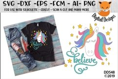 Unicorn Believe Fantasy SVG Product Image 1