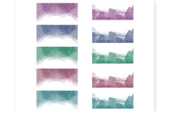 Glitter borders clipart Frames Watercolor borders Product Image 2