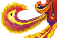 Art flaming mythical Phoenix bird Product Image 2
