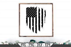 Distressed or Grunge American Flag SVG Product Image 1
