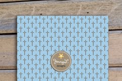 Boy Baptism Digital Papers, Cross Dove Clipart, Product Image 3