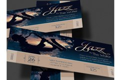 Jazz Concert Event Ticket Template Product Image 3