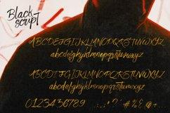 Black Script SVG Bold Brush Font Product Image 4