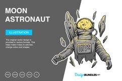 Moon Astronaut Vector Illustration Product Image 1