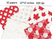Canada Day PATTERN Fashion Illustration Patriotic USA JPEG Product Image 3