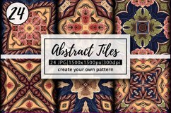 Abstract Zentangle Pattern Tiles   abstract background Product Image 1