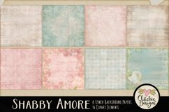 Digital Scrapbook Kit - Shabby Floral Scrapbooking Clipart Product Image 3