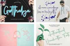 Calligraphy Font Collection Bundle. 4 IN 1 Product Image 3