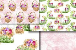Easter Paper Pack Purple Easter Seamless Pattern Digital Fab Product Image 2