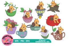Cute Snail clipart, Cute Snail svg, Snail Clipart Product Image 1