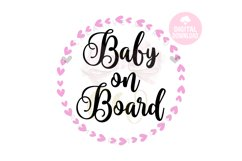 Baby on board svg   Baby Bear on board svg   Car Decal svg Product Image 1