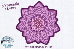3D Mandala Bundle | 3D Layered Mandala SVG Bundle Product Image 11