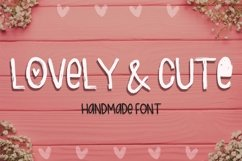 Lovely & Cute - 3 Handmade fonts! Product Image 1