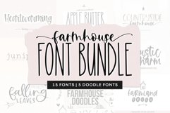 Farmhouse Font Bundle - Handwritten Fonts for Crafters! Product Image 1