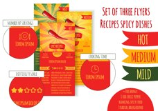Set flyers. Recipes spicy dishes Product Image 1