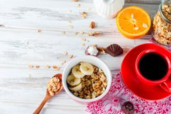 Breakfast granola, a cup of coffee Product Image 1