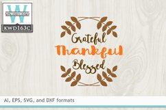 ThankfulSVG - Grateful Thankful Blessed Product Image 2