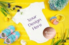Baby Wear Onesie Bodysuit Bib Mockup Styled Photo Bundle Product Image 3