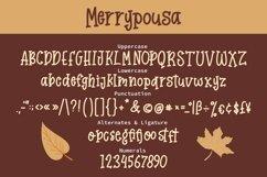 Web Font Merrypousa - Monoline Fancy Font Product Image 6