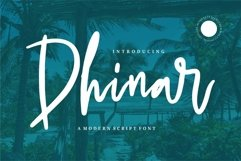 Web Font Dhinar - A Modern Script Font Product Image 1