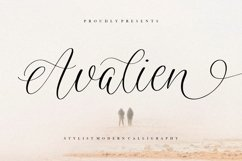 Avalien Stylist Modern Calligraphy Font Product Image 1